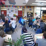 Lucerne students work with poet Stuart Ross